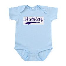 Vintage Mathlete 6  Infant Creeper