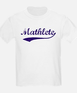 Vintage Mathlete 6  Kids T-Shirt