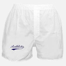 Vintage Mathlete 6  Boxer Shorts