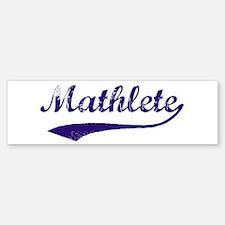 Vintage Mathlete 6 Bumper Bumper Bumper Sticker