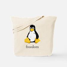Cute Linux tux Tote Bag
