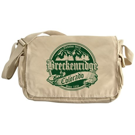 Breckenridge Old Green Messenger Bag