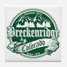Breckenridge Old Green Tile Coaster