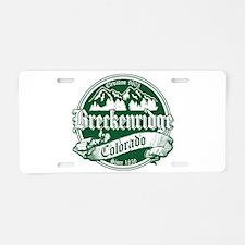 Breckenridge Old Green Aluminum License Plate