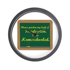 I was Homeschooled chalkboard Wall Clock