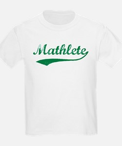Vintage Mathlete 5  Kids T-Shirt