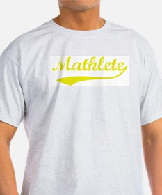 Vintage Mathlete 4  Ash Grey T-Shirt