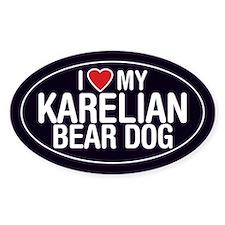 I Love My Karelian Bear Dog Oval Sticker/Decal