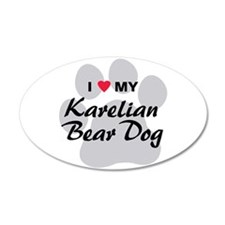Karelian Bear Dog 22x14 Oval Wall Peel