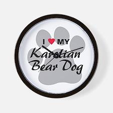 Karelian Bear Dog Wall Clock