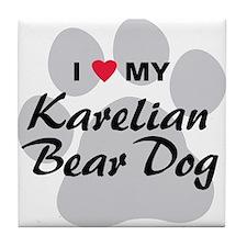 Karelian Bear Dog Tile Coaster