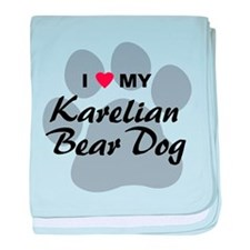 Karelian Bear Dog baby blanket