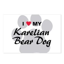 Karelian Bear Dog Postcards (Package of 8)