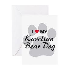 Karelian Bear Dog Greeting Card