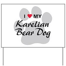 Karelian Bear Dog Yard Sign
