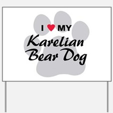 Karelian Bear Dog Yard Sign