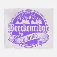 Breckenridge Old Violet Throw Blanket