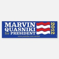 Marvin Quasniki Bumper Bumper Sticker
