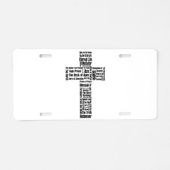 Names of Jesus Aluminum License Plate