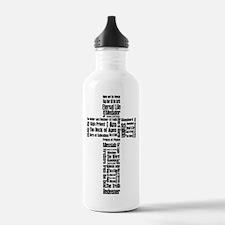 Names of Jesus Water Bottle