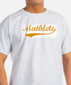 Vintage Mathlete 3  Ash Grey T-Shirt