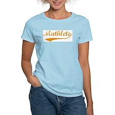 Vintage Mathlete 3  Women's Pink T-Shirt