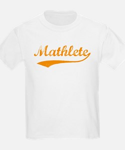 Vintage Mathlete 3  Kids T-Shirt