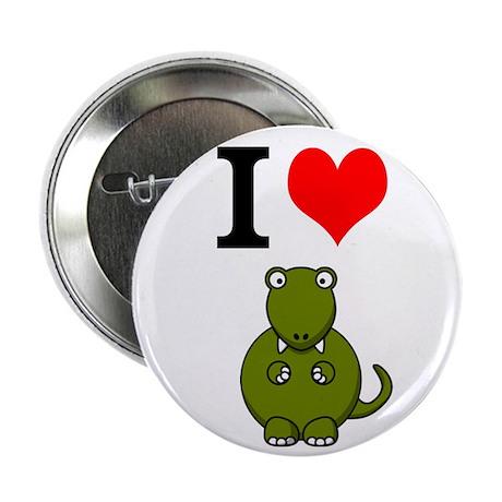 """I Heart T-Rex - 2.25"""" Button"""