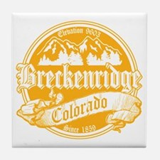 Breckenridge Old Gold Tile Coaster
