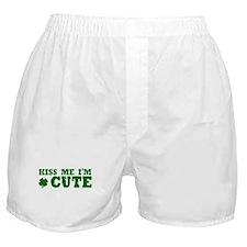 Kiss Me I'm Cute Boxer Shorts