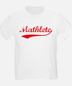 Vintage Mathlete 2  Kids T-Shirt