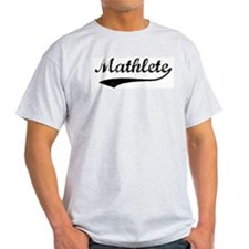 Vintage Mathlete 1  Ash Grey T-Shirt