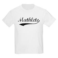 Vintage Mathlete 1  Kids T-Shirt