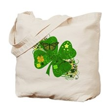 Lucky 4 Leaf Clover Irish Tote Bag