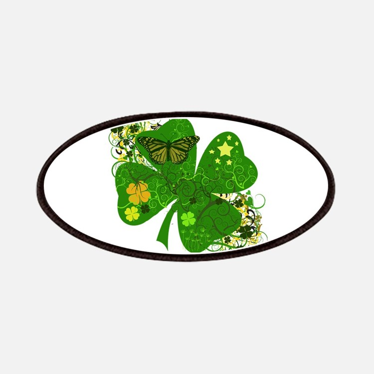 Lucky 4 Leaf Clover Irish Patches