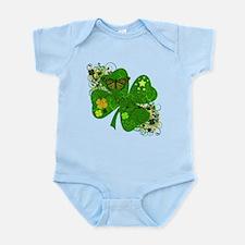 Lucky 4 Leaf Clover Irish Infant Bodysuit