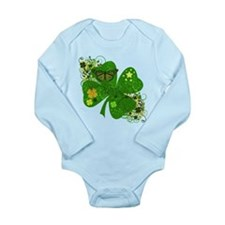 Lucky 4 Leaf Clover Irish Long Sleeve Infant Bodys