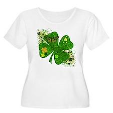 Lucky 4 Leaf Clover Irish T-Shirt