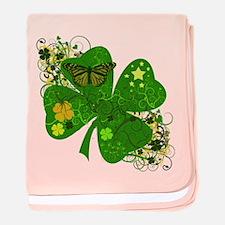 Lucky 4 Leaf Clover Irish baby blanket