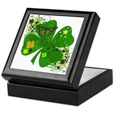 Lucky 4 Leaf Clover Irish Keepsake Box