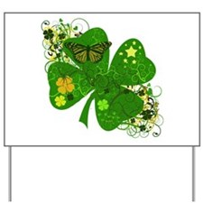 Lucky 4 Leaf Clover Irish Yard Sign