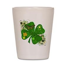 Lucky 4 Leaf Clover Irish Shot Glass