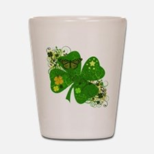 Lucky 4 Leaf Clover Irish Shot Glass