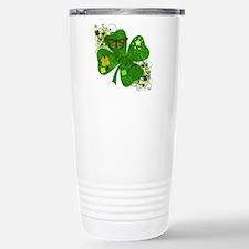 Lucky 4 Leaf Clover Irish Travel Mug