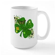 Lucky 4 Leaf Clover Irish Mug