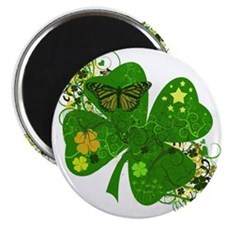 Lucky 4 Leaf Clover Irish Magnet