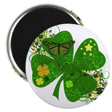 "Lucky 4 Leaf Clover Irish 2.25"" Magnet (10 pack)"