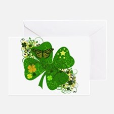Lucky 4 Leaf Clover Irish Greeting Card