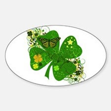 Lucky 4 Leaf Clover Irish Decal