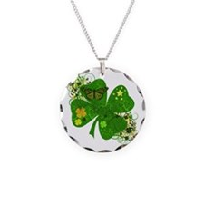 Lucky 4 Leaf Clover Irish Necklace